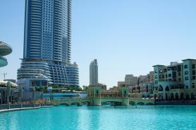 Dubajský park Burf Khalifa u stejnojmenné budovy