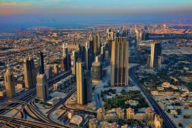 Pohled na město Dubaj