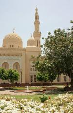 Dubaj a část mešity Jumeirah
